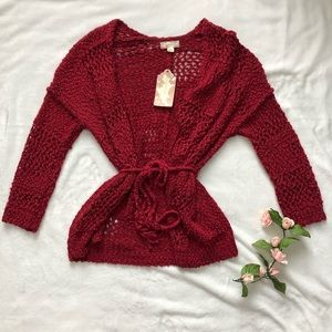 NWT Band of Gypsies Mixed Stitch Cardigan Sz Small
